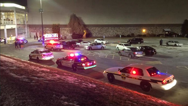 Police on the scene of a shooting at Monroeville Mall
