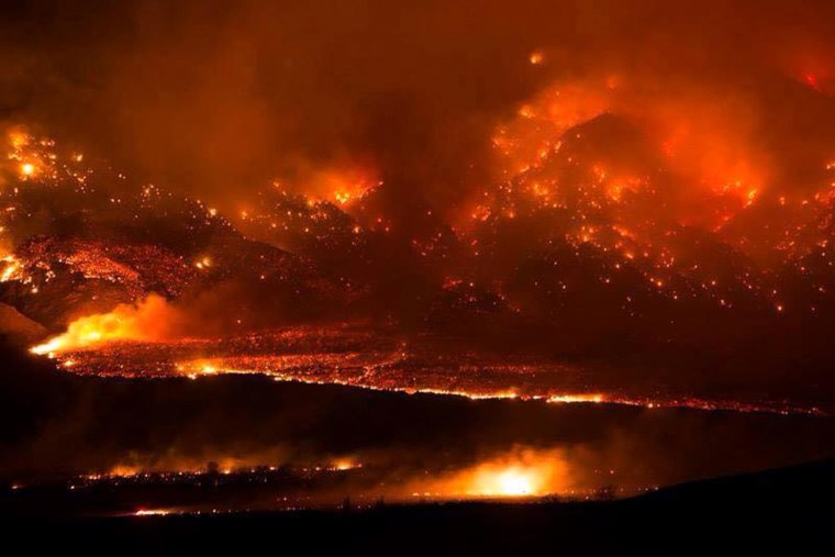 The Round Fire began burning Friday near Bishop, California, on Friday.