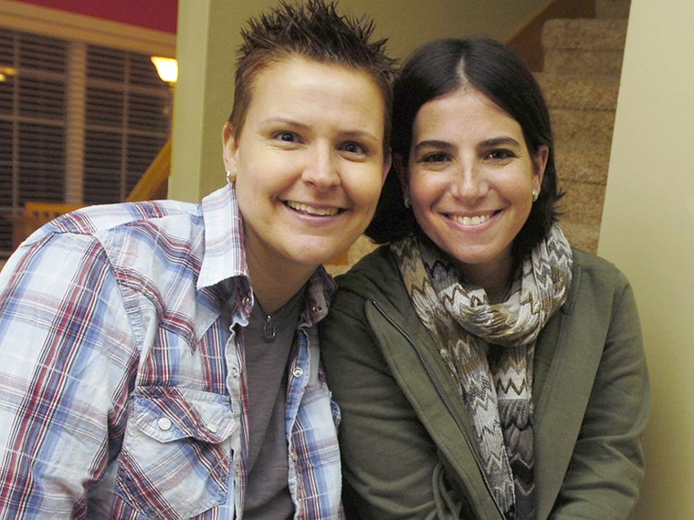 IMAGE: Niki Quasney and Amy Sandler in 2011