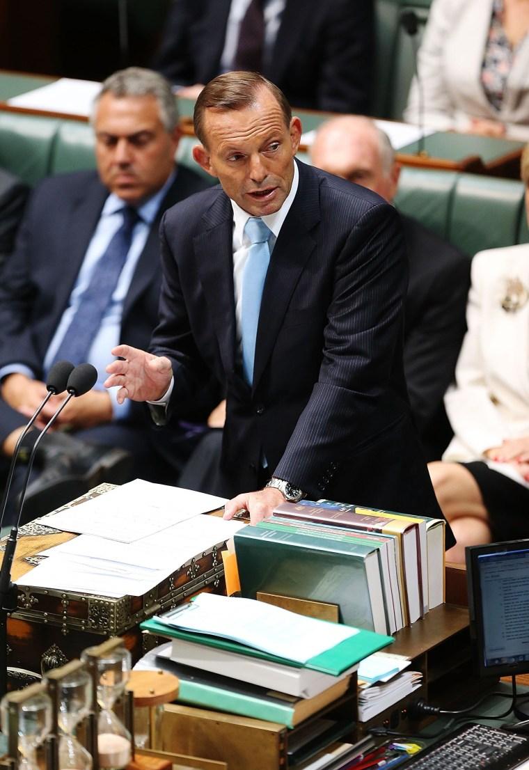 IMAGE: Tony Abbott in Parliament