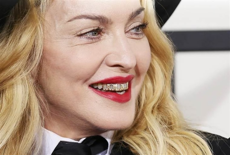 Madonna at the 56th annual Grammy Awards on Jan. 26, 2014.