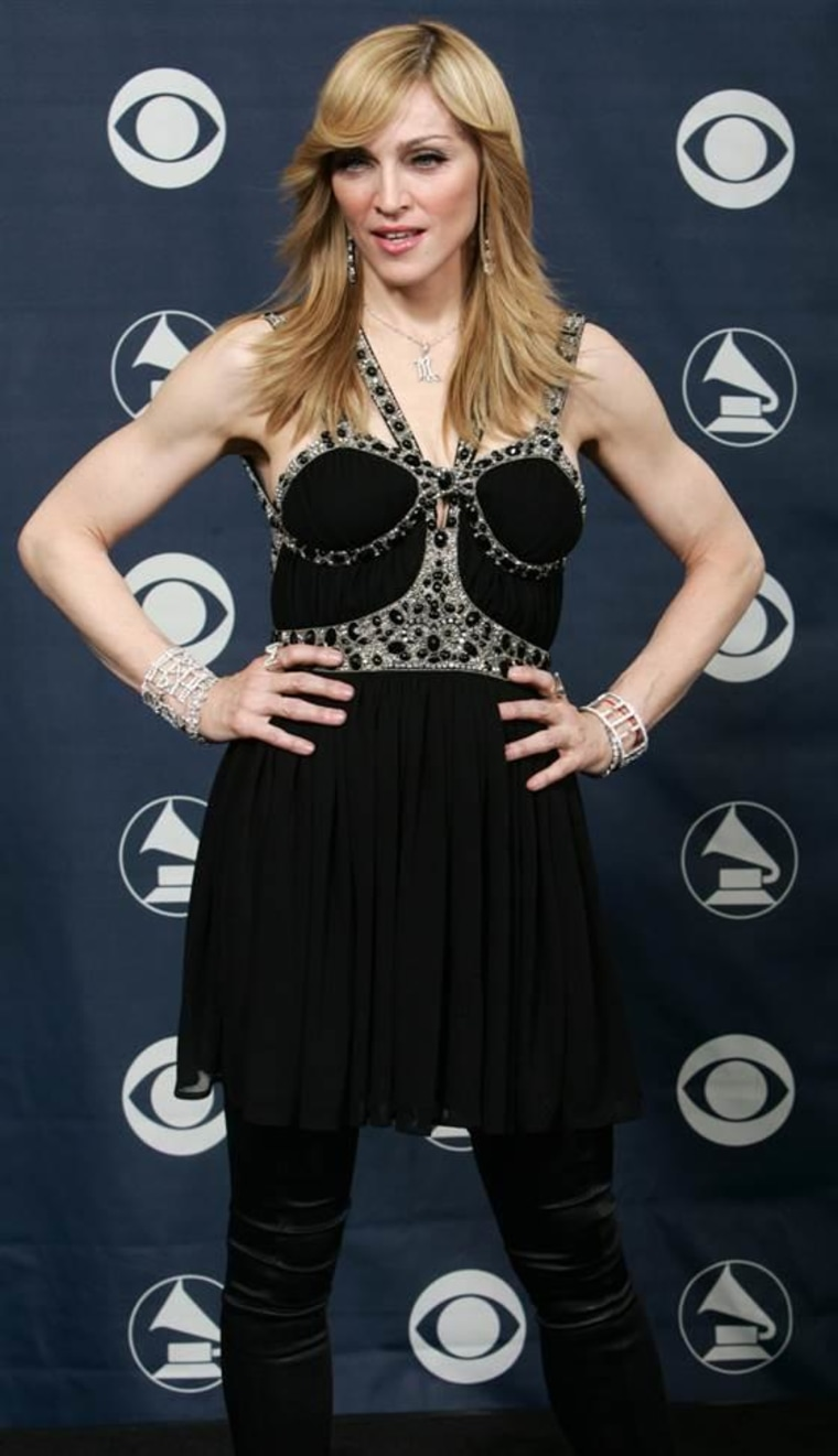 Madonna appears backstage at the 48th Annual Grammy Awards on Feb. 8, 2006.