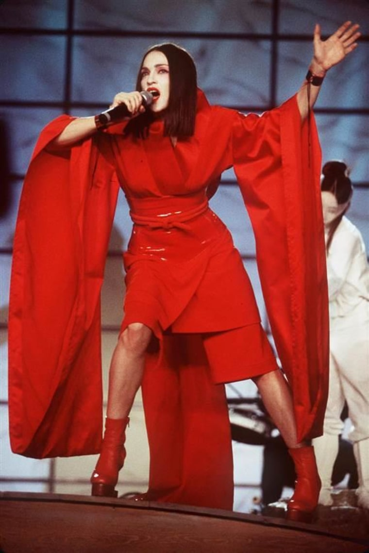 Madonna performs live at the 41st Annual Grammy Awards on Feb. 24, 1999.