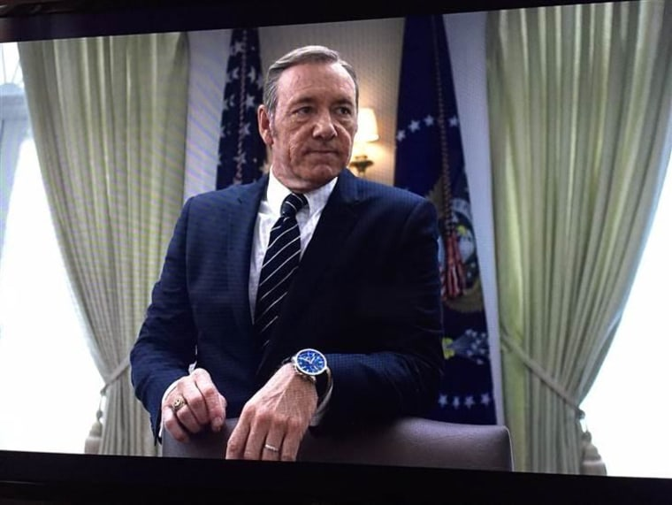 Kevin Spacey appears as Frank Underwood on the first episode of Season 3.