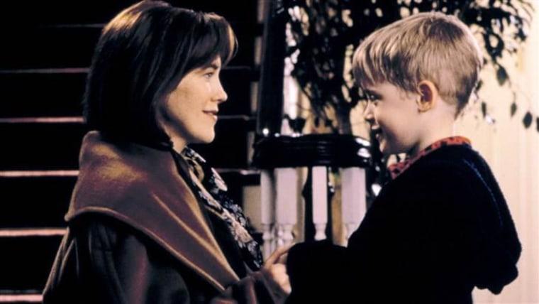 "Catherine O'Hara and Macaulay Culkin are seen in ""Home Alone"" in 1990."