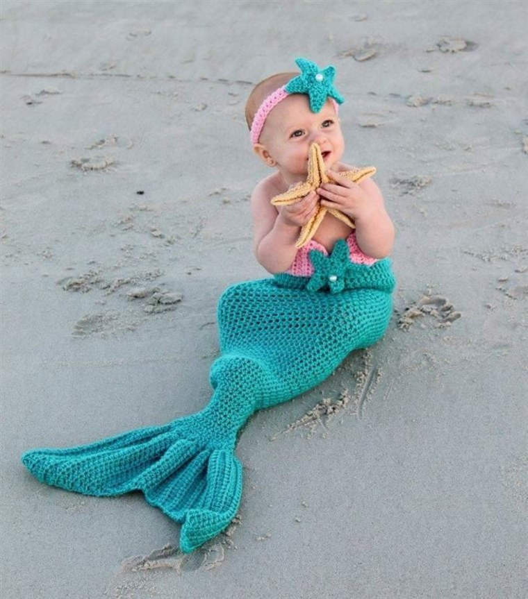 Our little mermaid! Her costume was hand made with love by her grandmother.