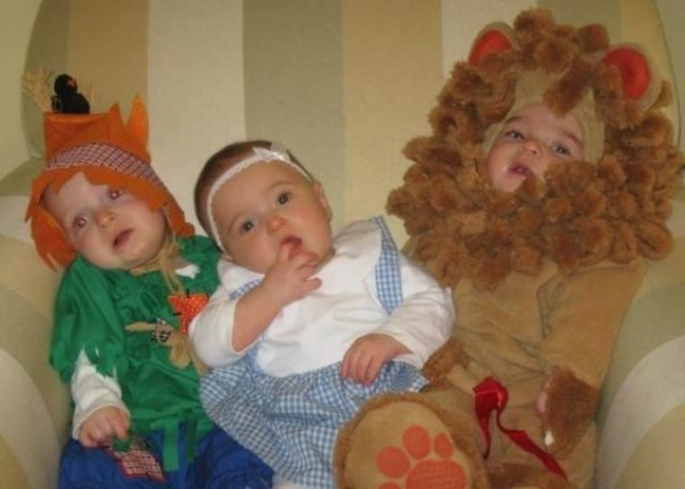 My triplets' first Halloween