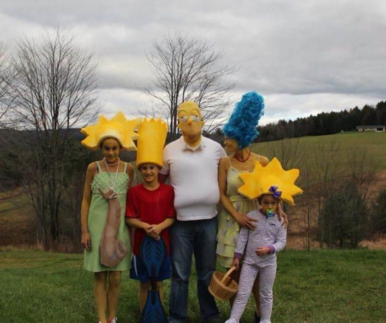 Family Halloween Costumes The Simpsons  sc 1 st  Today Show & 61 awesome last-minute Halloween costume ideas