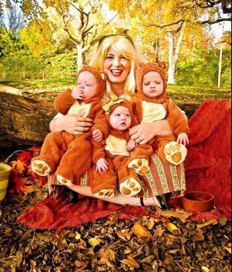 family halloween costumes goldilocks and the three bears