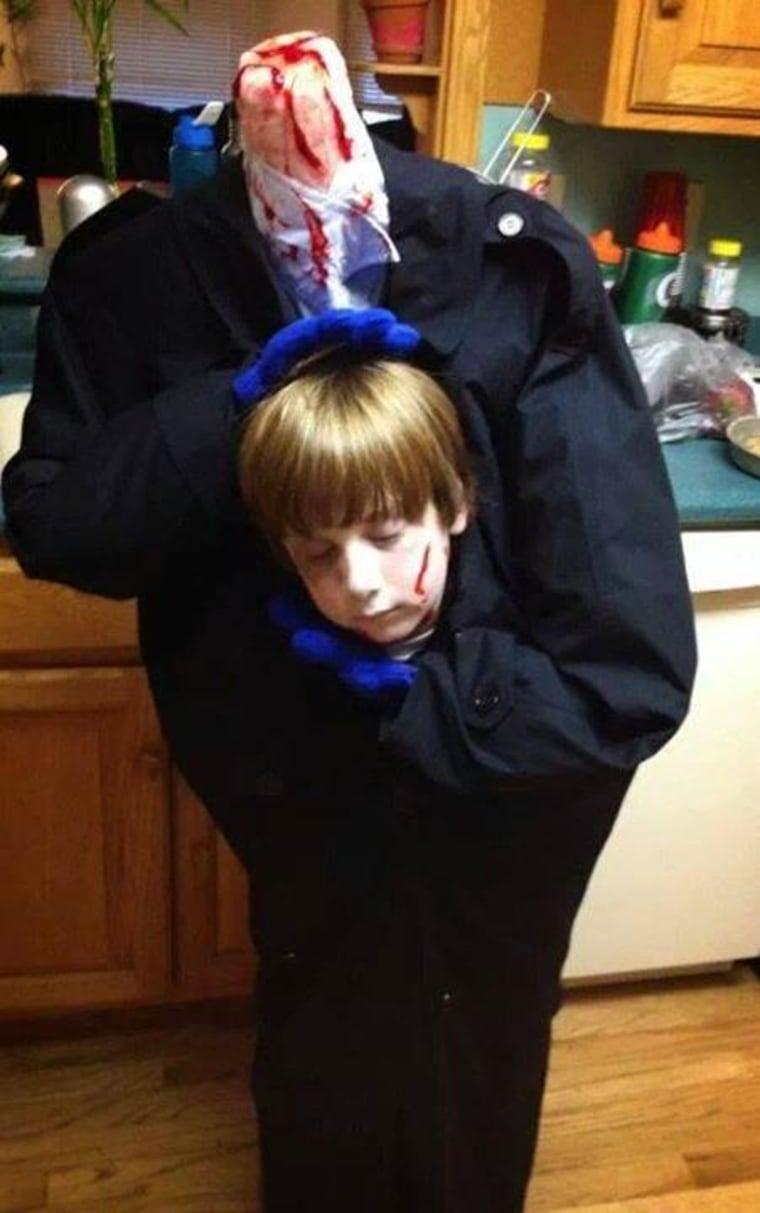 The headless boy Halloween costume