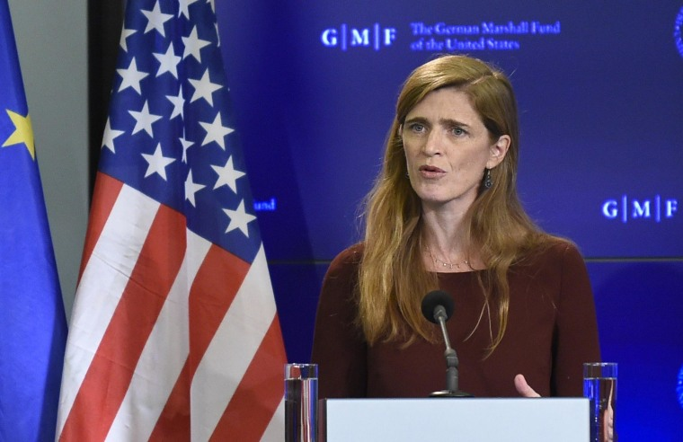 Image: US Ambassador to the United Nations Samantha Power