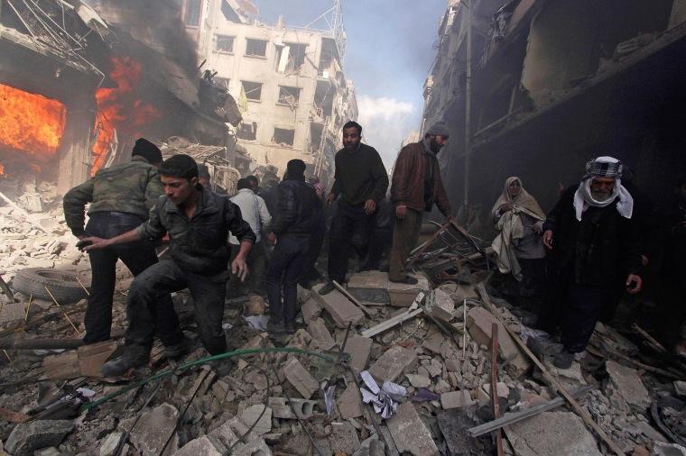 Image: Damascus shelling