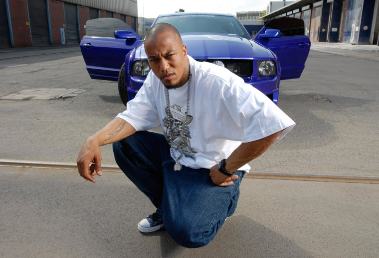 (FILE) An archive picture, dated 20 June 2005, shows the former rapper Deso Dogg (real name: Denis Cuspert) posing in Berlin, Germany. The Berlin Office for Protection of the Constitution has new insights about the German Islamist Cuspert in Syria. Photo by: picture-alliance/dpa/AP Images