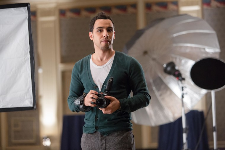 "Victor Rasuk as aspiring photographer ""Jose Rodriguez"" in ""Fifty Shades of Grey."""