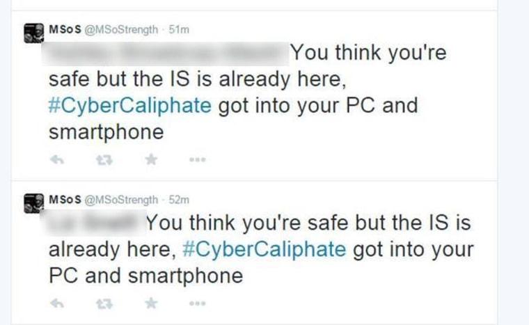 Hacked tweets