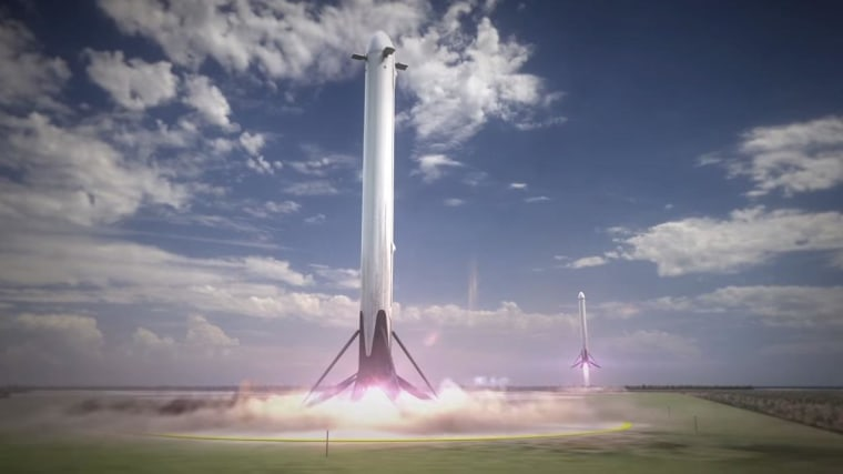 Image: Falcon Heavy boosters