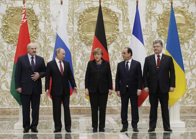 Image: Ukraine peace negotiations in Minsk