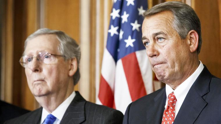 Image: John Boehner, Mitch McConnell