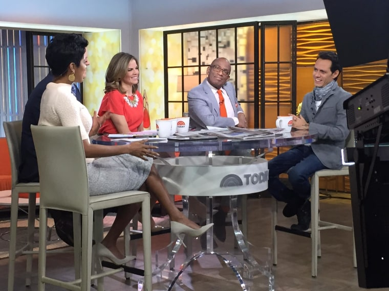 International salsa superstar Marc Anthony visited the Today show on Feb. 13, 2015 and spoke about his touring, his philanthropic efforts in the Dominican Republic with orphaned children, and how he overcame his stuttering through singing.