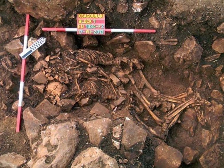 5,800-Year-Old Skeletons Found Locked in Embrace Near Greek Cave