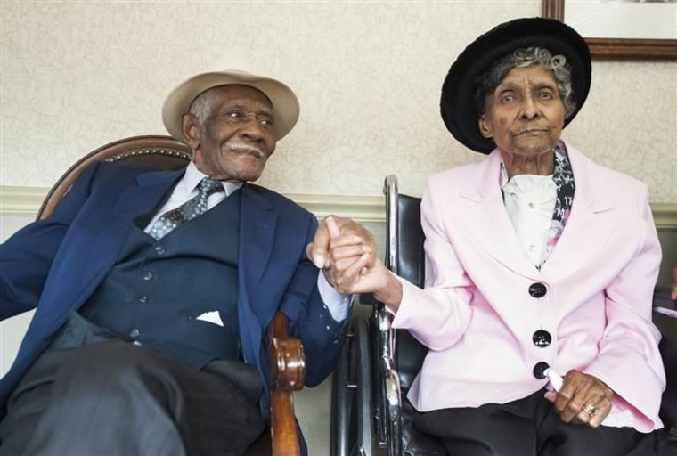 William, 97, and Willie Mae Fullwood, 100, both of Mount Laurel have been married for 75 years.