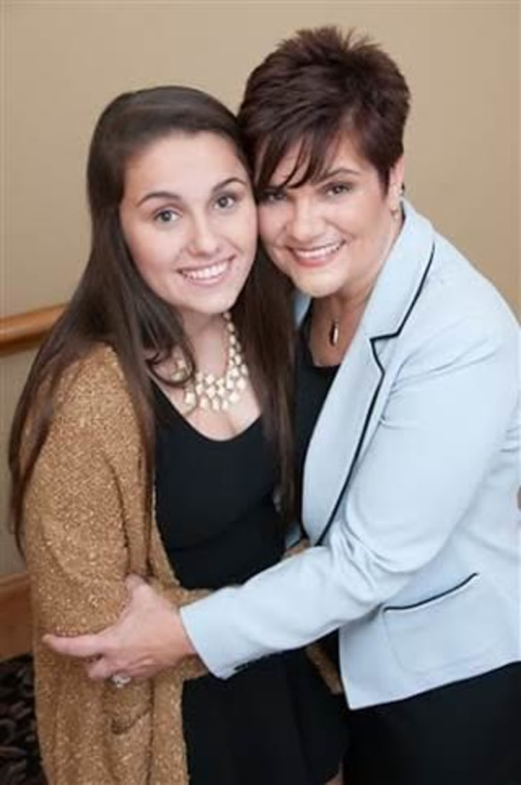 Carleigh and her mom, Daryl Lynn, who are writing a book together.