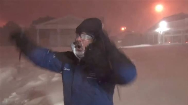 Cantore couldn't get enough of the rare winter weather.