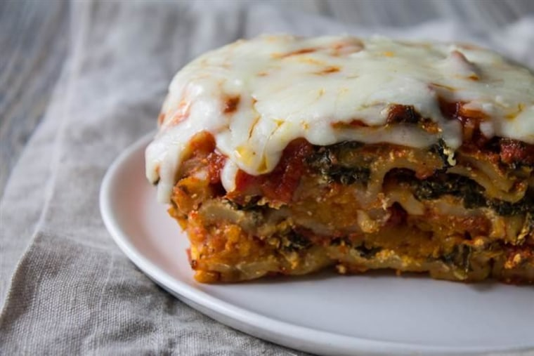 Slow Cooker Butternut Squash and Kale Lasagna