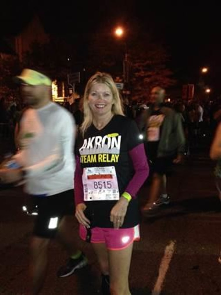 Pam Mace is back to running after experiencing dissections or tears in her carotid and vertebral arteries because of FMD