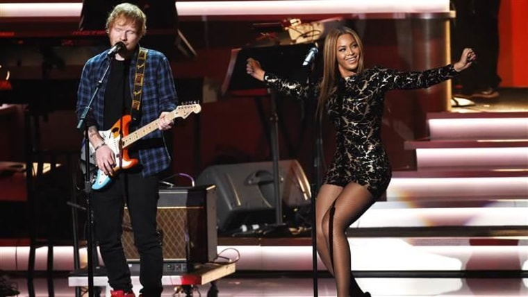 Beyonce, Ed Sheeran and Stevie Wonder