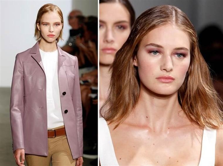 Models walk the runway at the Derek Lam fashion show during Mercedes-Benz Fashion Week Spring 2015 on September 7, 2014.