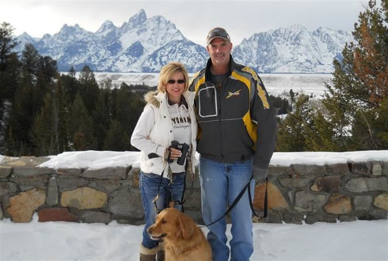 Shelly Golay with her husband, Jim, who died in June 2014 of cancer.