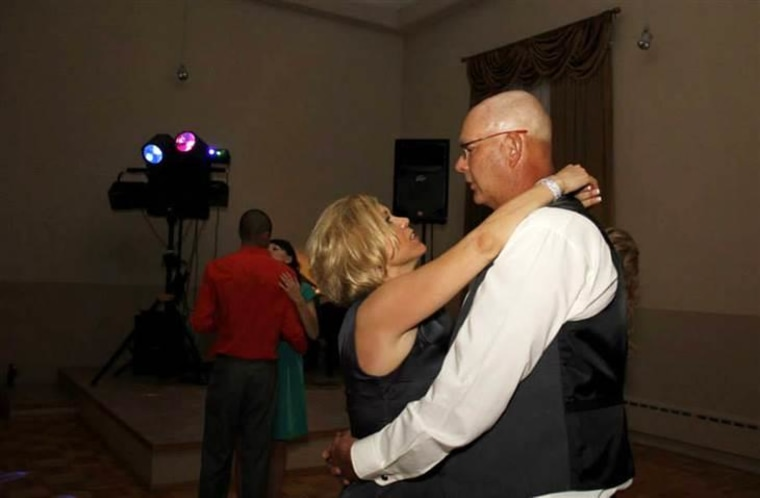 Shelly Golay's last dance with her husband, at her son's wedding on May 18, 2013.