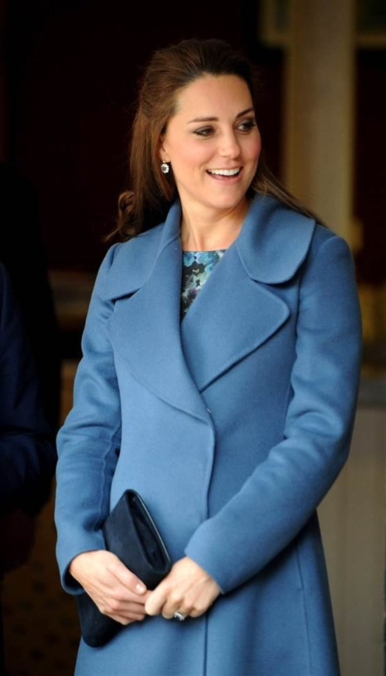 Duchess Kate, seen here during her visit to the Emma Bridgewater factory in Stoke on Trent, England.