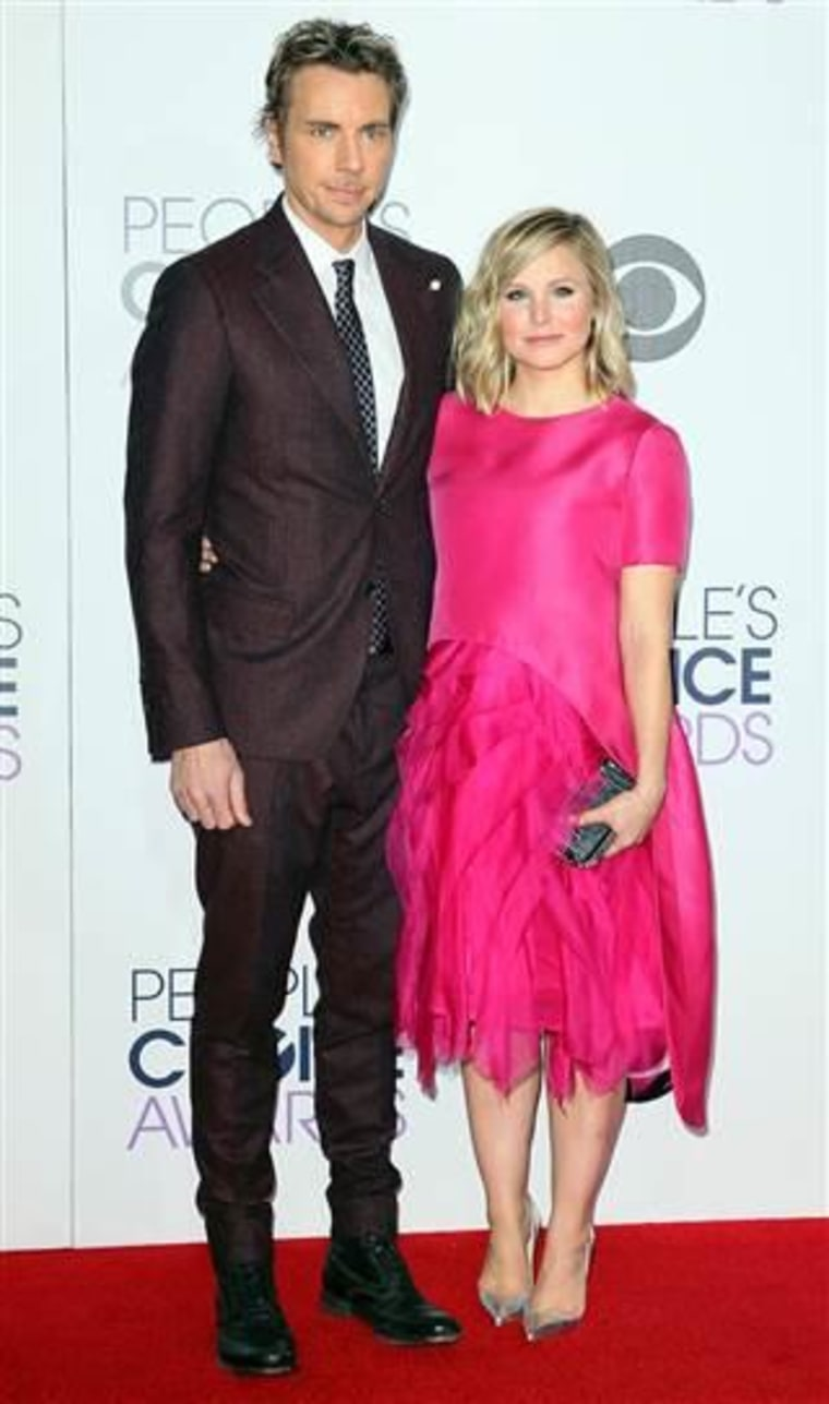 Dax Shepard and Kristen Bell attend the 2015 People's Choice Awards in Los Angeles on January 7.