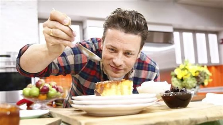 """TODAY -- Pictured: Jamie Oliver appears on NBC News' """"Today"""" show -- (Photo by: Peter Kramer/NBC/NBC NewsWire)"""