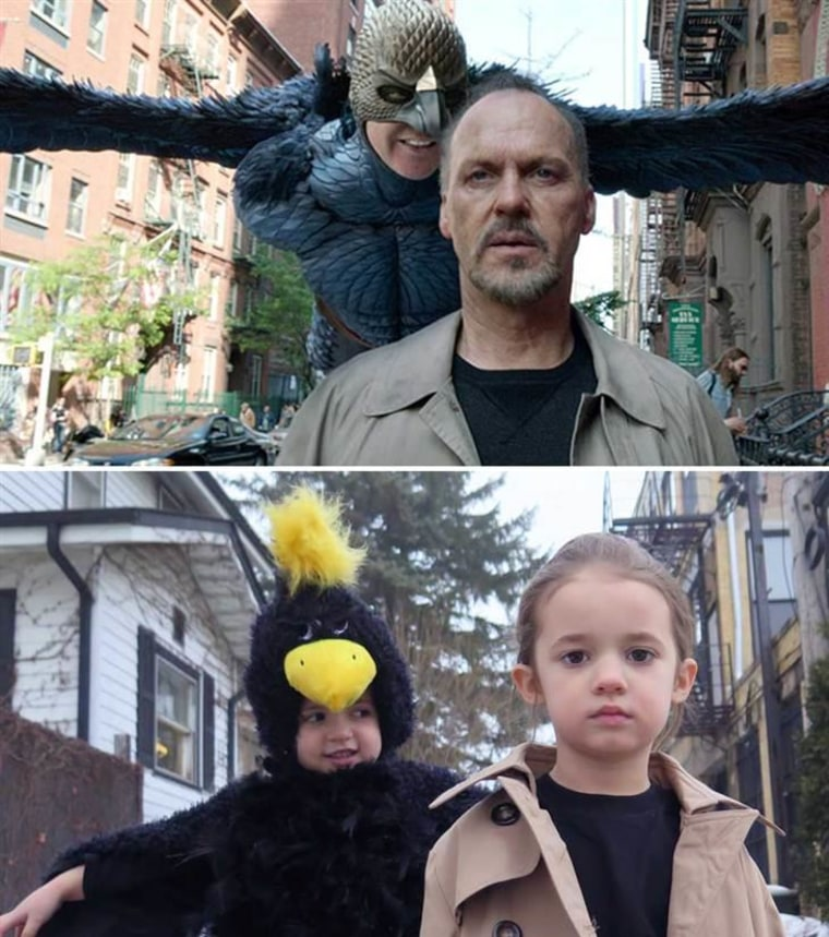 "Sadie (left) and Sophia (right) in ""Birdman"""