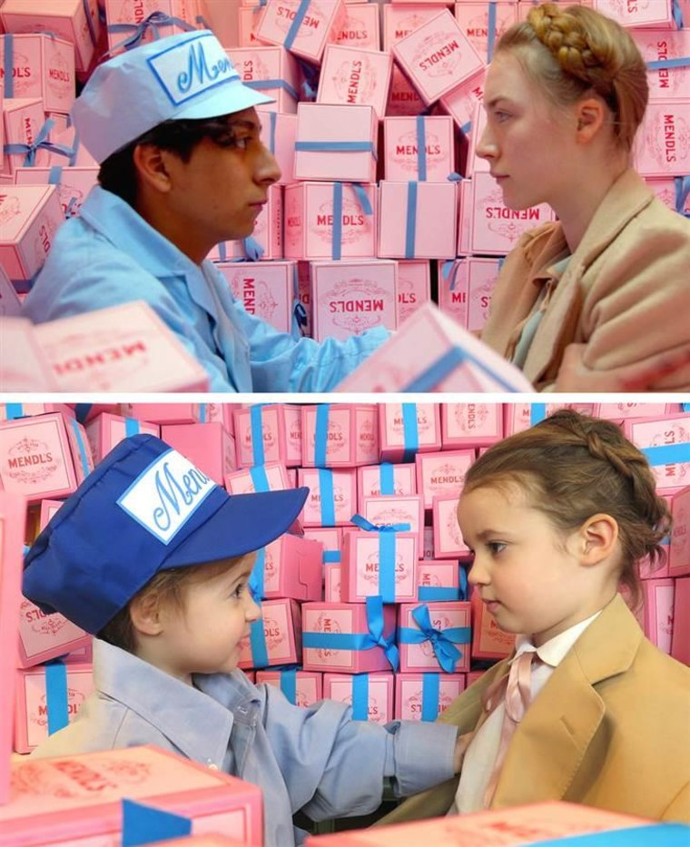 "Sadie (left) and Sophia (right) in ""The Grand Budapest Hotel"""