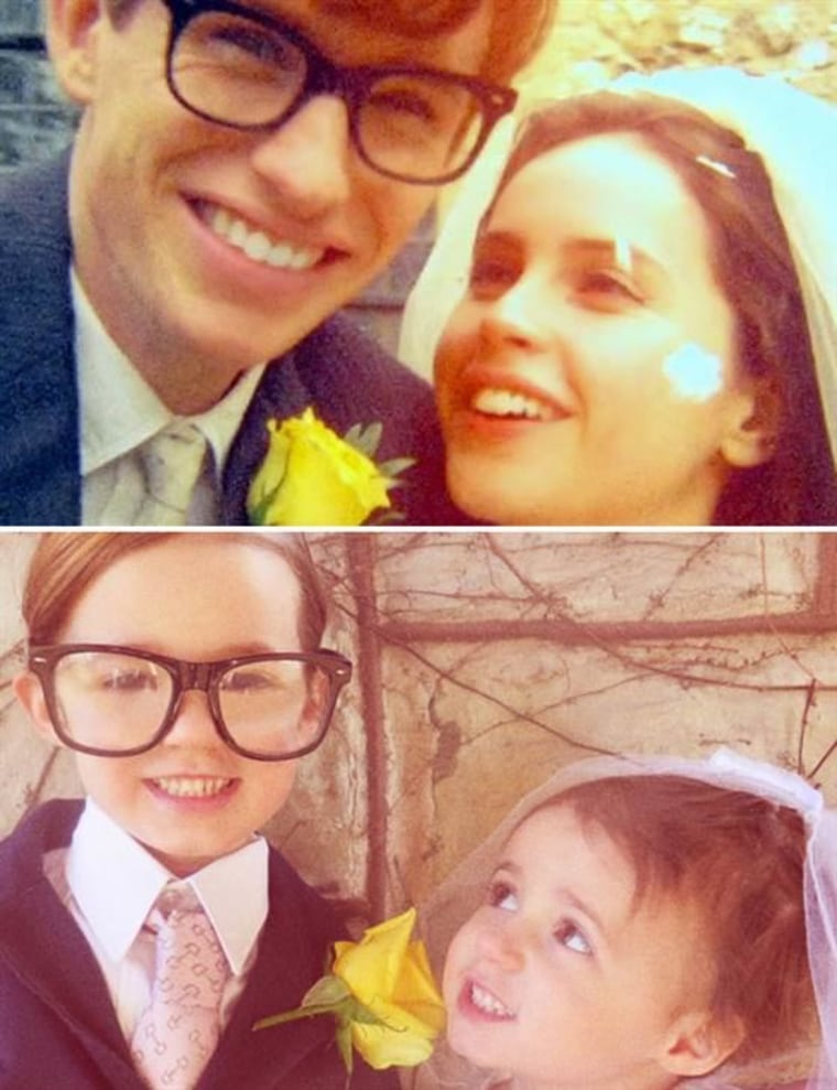 "Sophia (left) and Sadie (right) in ""The Theory of Everything"""