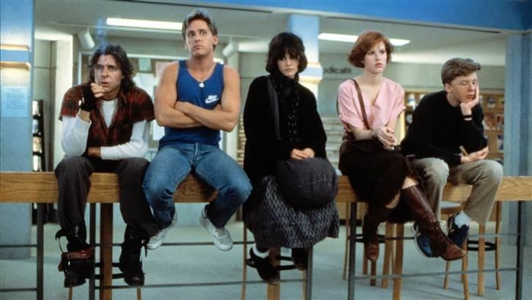 """Judd Nelson, Emilio Estevez, Ally Sheedy, Molly Ringwald and Anthony Michael Hall faced detention together in 1985's """"Breakfast Club."""""""