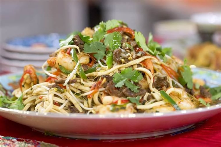 TODAY Show: Joanne Chang cooks traditional Lunar New Year foods on February 19, 2015.