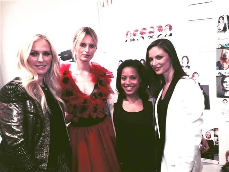 From left: Marchesa co-designer Keren Craig, supermodel Karolina Kurkova, TODAY's Sheinelle Jones and co-designer Georgina Chapman.