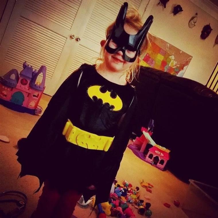 Becky Miller sent this photo of Bat Girl.