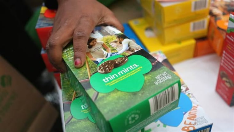 Overwhelming demand for Thin Mints has led to a delay in their distribution.