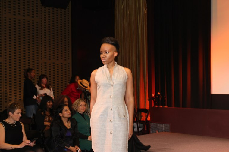 A B-Olivacce design during NYC Fashion Week, February 15, 2015.