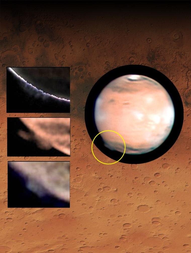 Image: Mars plume