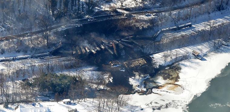 Image: Fayette County train derailment