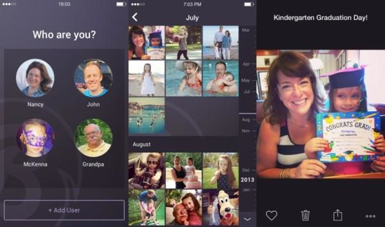 The app tracks who uploads pictures, where they were taken, and when.