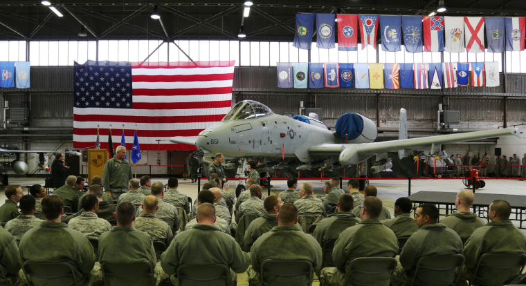 Image: A welcome ceremony at Germany's Spangdahlem Air Base