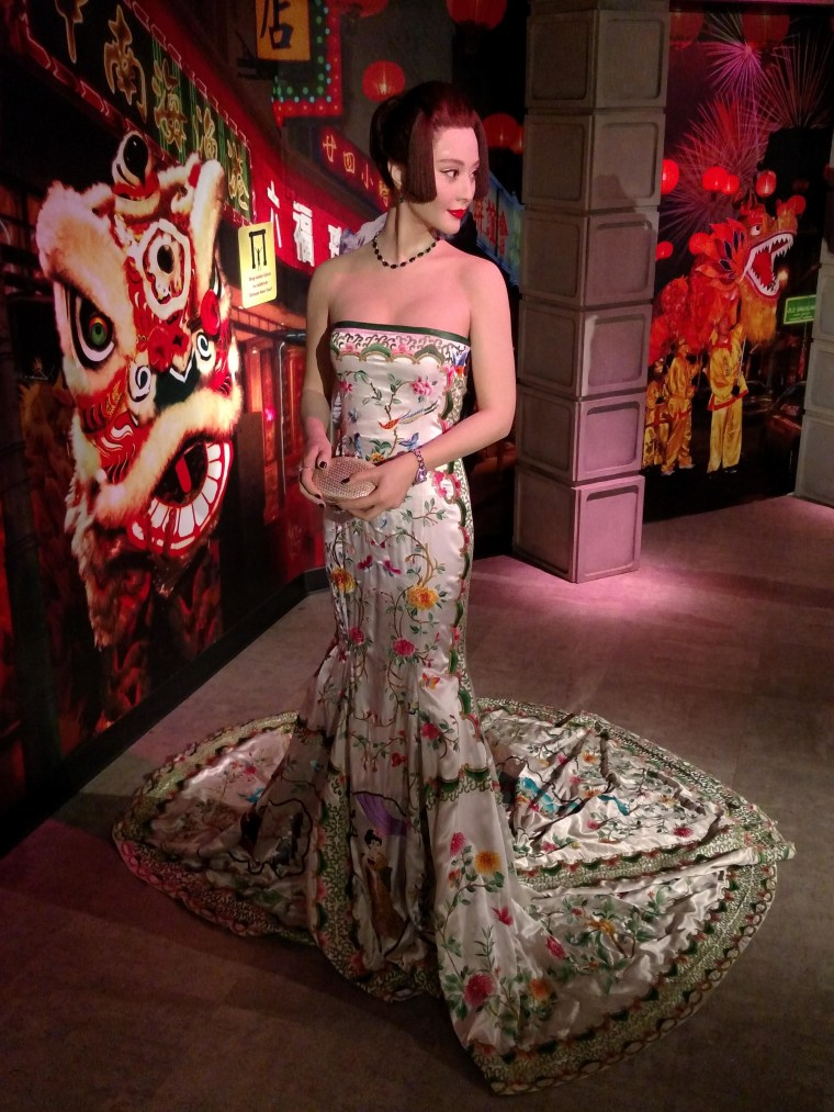 Fan Bing Bing is visiting Madame Tussauds in San Francisco for the Lunar New Year.